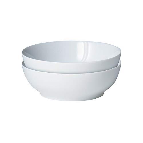 Denby - Juego de 2 cuencos para cereales, color blanco
