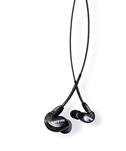Shure SE215-K-UNI-EFS In-Ear Kopfhörer mit passiver Geräuschunterdrückung für iOS und Android – Premium Ohrhörer mit warmem und detailreichem Klang – Schwarz
