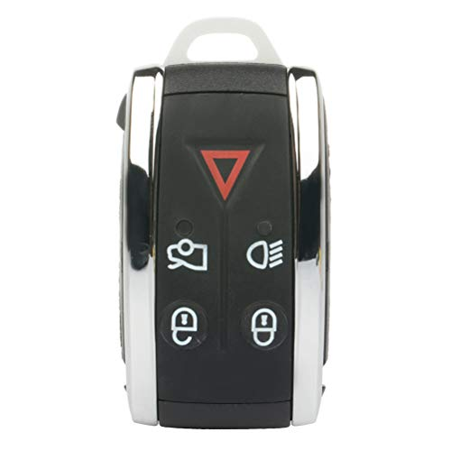 SELEAD Flip Key Fob 5 Buttons Keyless Entry Remote fit for 2007-2012 Jaguar XF XFR XK XKR Antitheft Keyless Entry Systems ADP12514701S 1pc US Stock