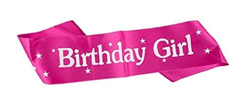 KIRALOVE Diadema de cumpleaños Divertida - cumpleañera - Feliz cumpleaños - niña - señorita - Mujer - Gadget - Broma - Fiesta - Color Rosa Happy Birthday