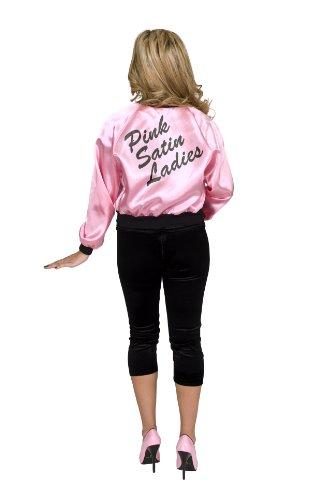 Charades Women's Satin Ladies Jacket, Pink, Large