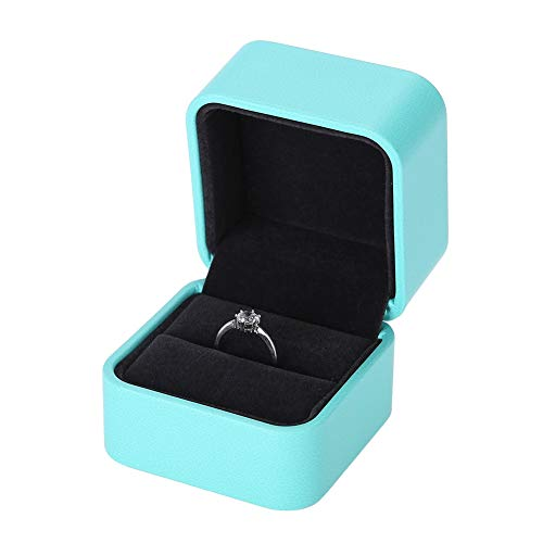 Cimenn Boîte à bagues, boîtier de Rangement de Bijoux en Cuir dunité Centrale, Cadeau de Bijou, Caisse demballage pour Mariage(01)