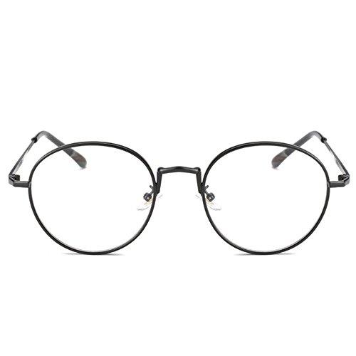 [Lebenslange Garantie] Schwartz Brillen mit Blaulichtfilter vintage - Hoher Schutz - Gaming Brillen für PC, Handy und Fernseher – Anti-Müdigkeit, Anti-Blaulicht, UV-Schutz
