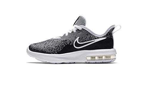 Nike Air Max Sequent 4 (ps) Little Kids Aq3579-001 Size 1 Black/Black-White