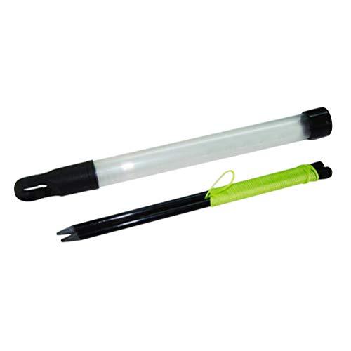 VORCOOL Golf Alignment Sticks Swing Ping String mit Pegs Professionelle Golfrichtungspraxis für Golfanfänger (Schwarz)