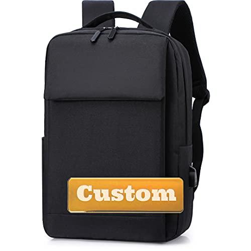 INGKDDL Nome Personalizzato Personalizzato Donne Borsa per Computer da 15.6 Pollici Portatile USB per Uomo School Computer Bag (Color : Black, Size : One Size)