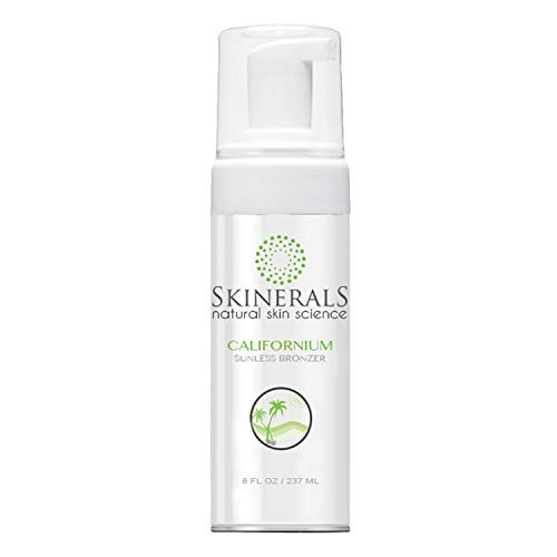 Skinerals Californium Self Tanner Mousse - Sunless Tanning Lotion with Organic and Natural...