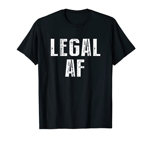 Funny 21st Birthday Gift T-Shirt Legal AF 21 Years Old Tee T-Shirt