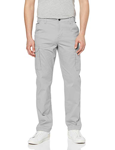 Marchio Amazon - MERAKI Pantaloni Cargo Slim Fit Uomo, Grigio (Dove Grey), 36W / 34L, Label: 36W / 34L