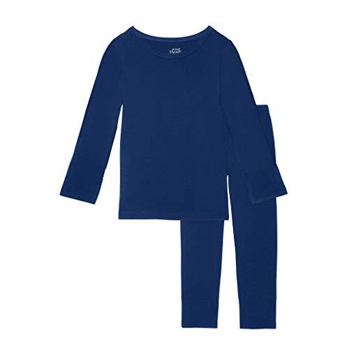 Posh Peanut Unisex Pajamas Set - Toddler Sleepers Little Boy Clothes - Kids Two Piece Girls PJ - Soft Viscose Bamboo (Sailor Blue, 2T)