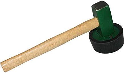 Schonhammer auch f/ür Heimwerken com-four/® Gummihammer als Camping Zelt- und Outdoorzubeh/ör Hammer - 01 St/ück Campinghammer mit stabilem und rutschfestem Griff