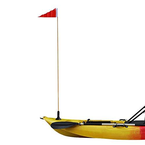 Kanusicherheitsflagge 120 cm / 4 Fuß mit Schienenbasis Das Kanusicherheitsflaggen-Kit kann für das Kanu-Yacht-Kajakfahren verwendet werden