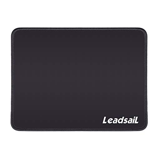 LeadsaiL Durevole Tappetino per Mouse con Bordo Cucito, Tappetino per Mouse da Gioco 27x21 cm, Tappetino per Mouse Impermeabile con Base in Gomma Antiscivolo per Laptop da Gioco da Ufficio