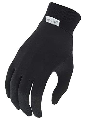Terramar Kid's Thermasilk Ultra thin Performance Liner Gloves, Black, Small/5