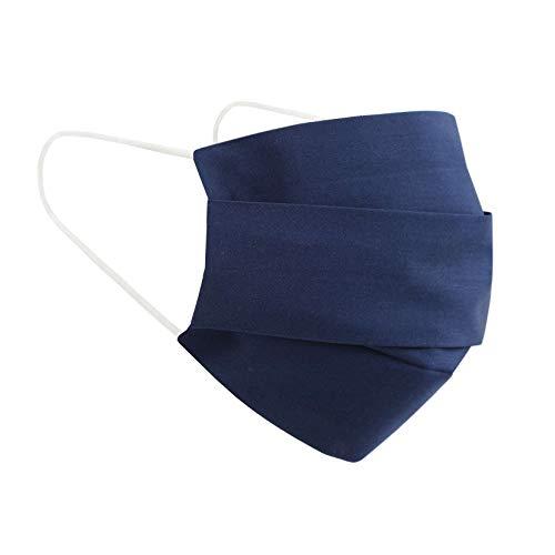 (Dunkel Blau) Wiederverwendbarer Mundschutz Maske mit 3 Filter -100% Baumwolle Öko Tex Zertifiziert Stoff Maske, Waschbare Atemschutzmaske Gesichtsmaske Schutzmaske Mundmaske Mund Maske Kälteschutz