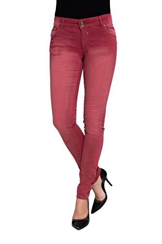 Coccara Damen Jeans Hose Bella Rose(Cn621 - Rose, 25)