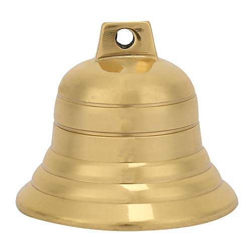 Junluck Campana de latón Budista de 2 Pulgadas, Campana Colgante de latón, Uso en el Dormitorio para una adición Decorativa de Valla Exterior