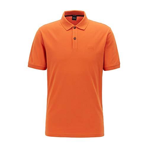 BOSS Halbarm Poloshirt Pallas Polokragen geknöpft orange Größe S