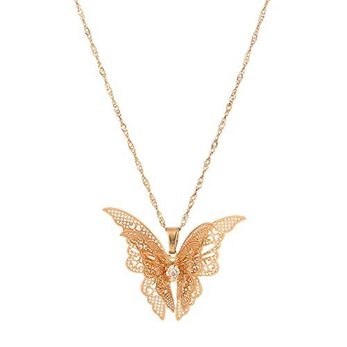 Collar para mujer, diseño de mariposa, vintage, para mujeres y niñas
