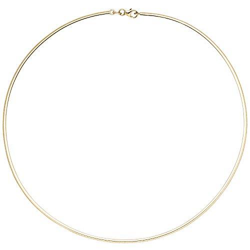 2mm Halsreif Reif Kette 333 Gold Gelbgold flach 45cm Halskette Halsschmuck