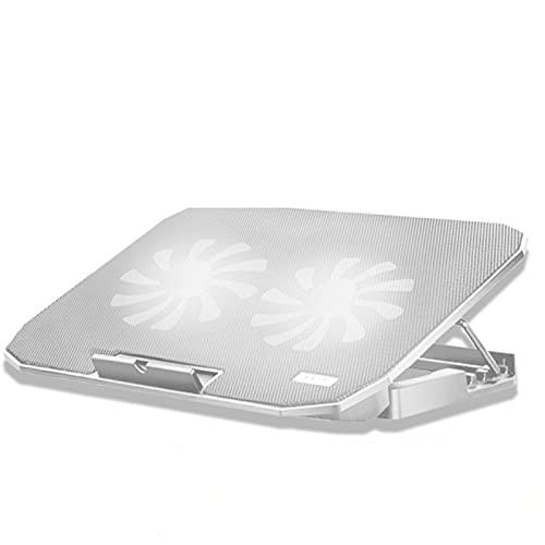 Soporte para computadora portátil Enfriador para computadora portátil para juegos Velocidad ajustable 2 puertos USB y 2 almohadillas para ventilador de enfriamiento Soporte para11 17 pulgadas