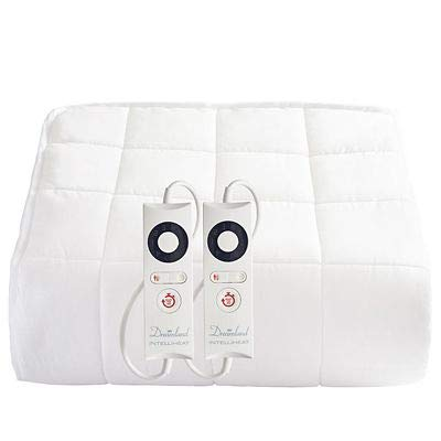 Dreamland Heated Mattress Protector Quilted Cotton Dual Control Super King