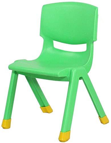 MAMINGBO Jardín de Infancia Sillón Silla de bebé del hogar Antideslizante Espesar plástico Mesa de Estudio y Silla de heces de Maquillaje (Color : Green)