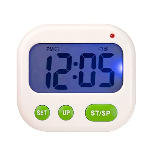 CNCDNALK Vibración Light LED LED Temporizador Digital Electronic Desktop Estudiante de Reloj de Alarma LED Luces Intermitentes, Vibraciones, Sonido y así sucesivamente. (Color : C)