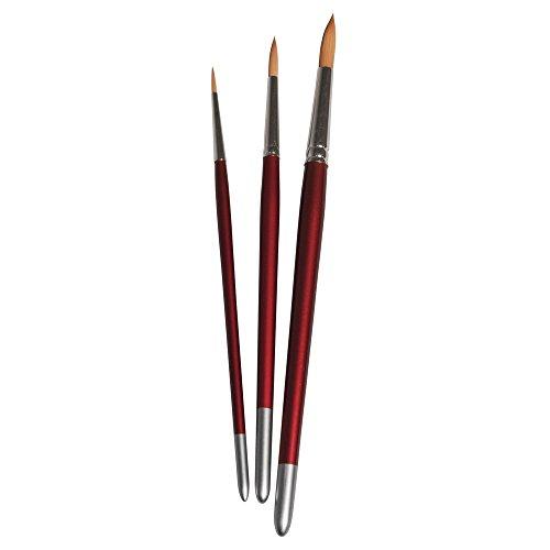 Rayher 37051000set di pennelli Hobby creativo, FSC 100%, 3pennelli sintetici, confezione da 3pezzi