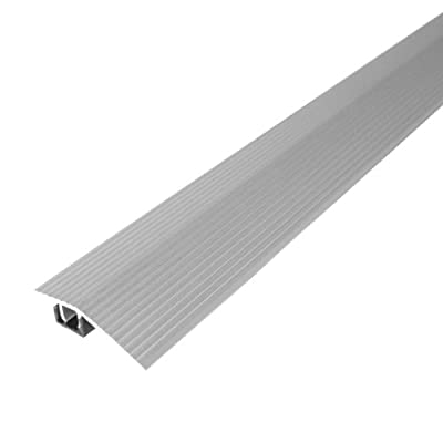 """M-D Building Products Cinch Reducer (Fluted) w/SnapTrack 36"""" Satin Silver Satin Silver"""