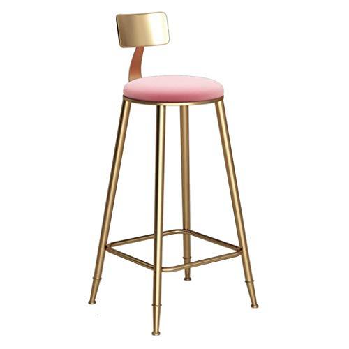 JIEER-C barkruk voor keuken, kruk, hoog, metaal, goudkleurig, fluweel, moderne eetkamerstoelen, zithoogte 45/60/68/73/78 cm (maat: 68 cm) 60CM
