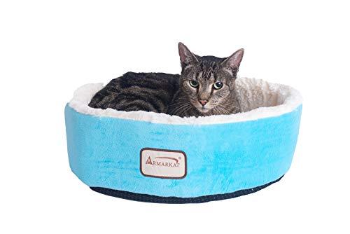 Armarkat Pet Bed, 14-Inch Diameter C12HTL/MB, Ivory