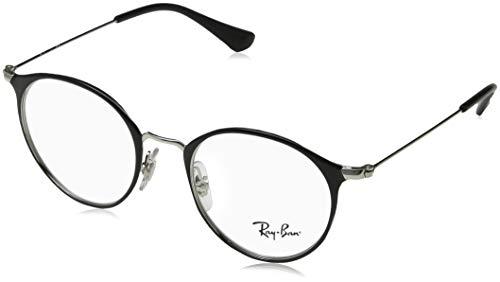 Ray-Ban Unisex-Erwachsene 0ry 1053 4064 45 Brillengestelle, Schwarz (Silver On Top Black)