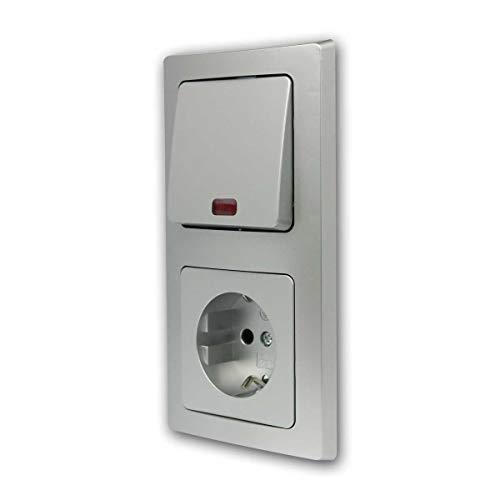 Juego DELPHI'Control de la puerta de 2 pliegues' de 3 piezas en color plata