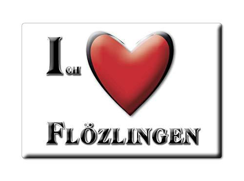 Enjoymagnets FLÖZLINGEN (BW) Souvenir Deutschland Baden WÜRTTEMBERG Fridge Magnet KÜHLSCHRANK Magnet ICH Liebe I Love