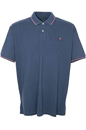 Kitaro Poloshirt Polo Shirt Herren Kurzarm Baumwolle Piqué Plusgröße Übergröße, Farbe:dunkelblau, Herrengrößen:5XL