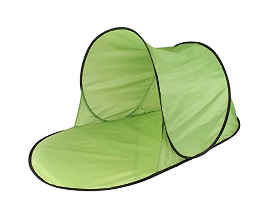 Wisegoods - Tienda de campaña desplegable ligera de primera calidad, para exteriores, de 142 x 72 x 60 cm, color verde.