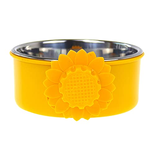 Sunydog Fixed Pet Food Bowl Dog Water Bowl Stainless Steel Removable Food Water Bowl Hanging Cage Cup for Dogs Cats Birds Small Animals