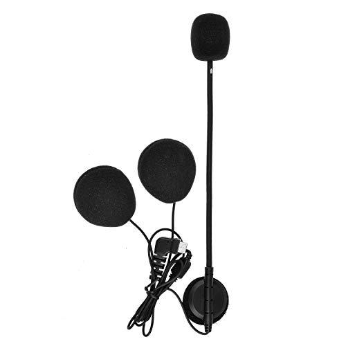 Fodsports BT-S2 Bluetooth Motorrad Intercom Headset Wasserdicht Helm Gegensprechanlage Wireless Sprechanlage mit 1000m, GPS, FM Radio, MP3 Player (hard microphone accessory)