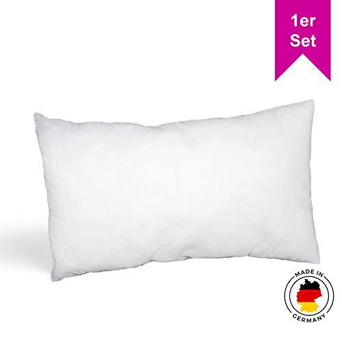LILENO HOME 1er Set Kissenfüllung 30x50 cm - waschbares Innenkissen geeignet für Allergiker - Polyester Kisseninlet als Couchkissen, Sofa Kissen, Cocktailkissen und Kopfkissen