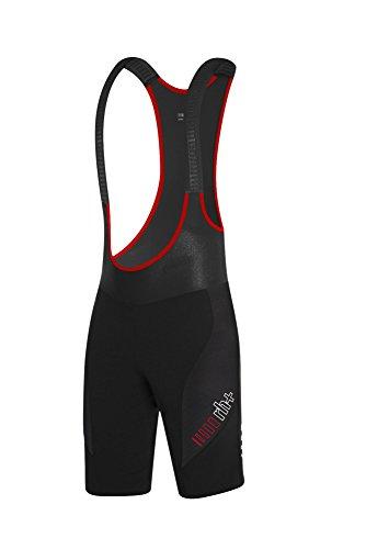 RH+ Dryskn Bagbibsh, Pantalone da Ciclismo Uomo, Nero/Rosso, XL