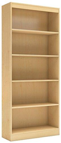 South Shore 5-Shelf Storage Bookcase, Natural Maple