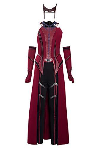 Enhopty Disfraz de superherona de Wanda, disfraz de Halloween Carnival, para mujer, talla S