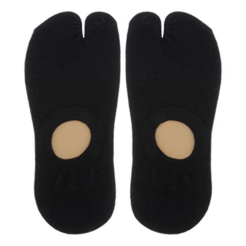 F Fityle Calcetines Unisex 2 Flops Tabi Calcetines Low Cut Cotton Boat Calcetines - Negro, tal como se describe