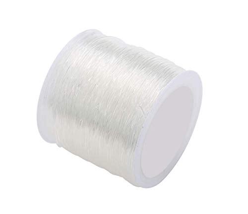 328ft/100m 0.8mm Clear Elastic String Stretchy Bracelet String Crystal String Bead Cord Thread for Jewelry Necklace Bracelet Beading Making(1 Roll)