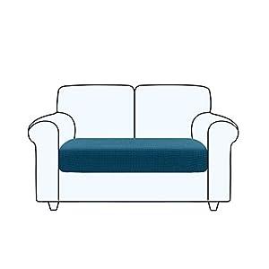 TAOCOCO Fundas de cojín para sofá,Protector de cojín de Asiento de Tela de poliéster de Alta Elasticidad (Azul océano, 2 Asientos)