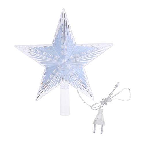 AMOYER 1pc Weihnachtsbaum Stern-Deckel Led-licht Charme Weihnachtssterne Licht Treetop Zuhause-Party-hochzeits-Dekoration Topper