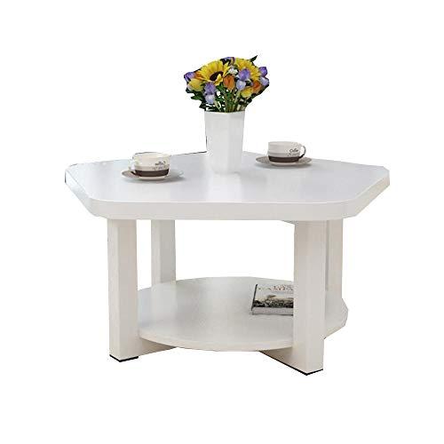 YNN Table Table d'appoint de canapé à 2 Niveaux, Support de Rangement pour Table Basse en Bois, Table pour Ordinateur Portable/Support de Console pour canapé 60 * 45cm (5 Couleurs) (Couleur : C)