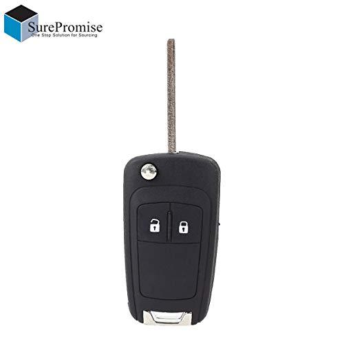 SurePromise One Stop Solution for Sourcing 2 Tasten Klappschlüssel Schlüssel Gehäuse Autoschlüssel Funkschlüssel Fernbedienung