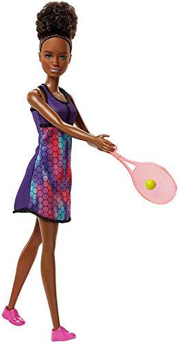 Barbie- Bambola Tennista per Sognare in Grande, Giocattolo per Bambini 3+ Anni, FJB11